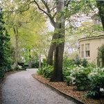 Private drive through gardens