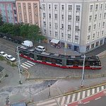 Tram station near Hotel