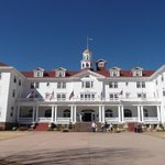 Stanley Hotel front (our room 3rd floor right below tower)