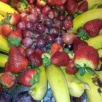 Fruta en el comedor