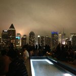 Manhattan skyline from Ink48 rooftop bar