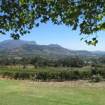 View of Franschhoek valley and vineyards fromthe verandah