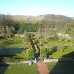 view from our room overlooking garden and surrounding areas