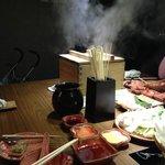 Steaming crab rice
