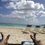 Perfect reading spot on the Grand Isle's semi-private beach