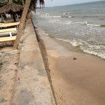 private beach low tide