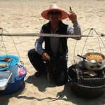 Food seller on beach