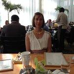Lise at breakfast