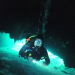 Entering the Cenote