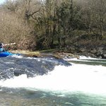 The river Barle.  Photo taken by Dave Jackson.