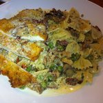 parmesion crusted chicked with bowtie pasta {Chef Special}