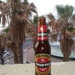 Vue depuis la chambre avec notre bier Locale
