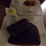 Sticky toffee and bread and butter puddings