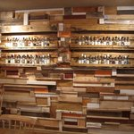 The wall of ouzo and tsipouro!