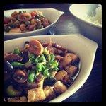 Black bean & mushroom tofu.