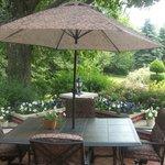 Enjoy a glass of iced tea on the patio!