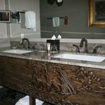 carved sink basin
