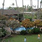 Napili Village courtyard.
