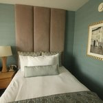 Double bed with a view of the sidetable