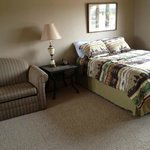 "Large Bedroom in with 2 queen beds, 42"" TV, armoire, spacious. Granite Springs Lodge"