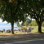 English Bay beach and park