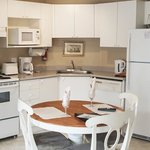 The kitchen is well-equipped and spacious