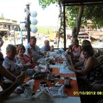 Family and friends at the Lemon tree