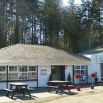 Laragh Lodge outside - red carpet for our arrival