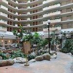 Inside lobby/dining area of hotel
