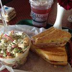 Cuban and shrimp salad. and OH the cupcakes!