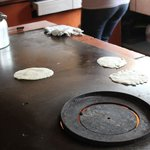 Making tortillas in town