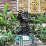 Statue of a warrior on Orchard Road