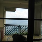 view of ocean and balcony