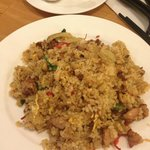 Spicy rice with pork and vegetables! Yum!!!