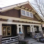 Learned a lot about the varied styles of houses in the Vilas area on our walking food tour