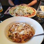 spaghetti Bol & pollo Cajun x