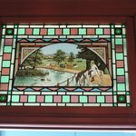 Lovely stained glass in the B&B
