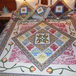 another view of the quilt on our bed