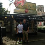 our tour guide and my son at Harry's
