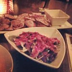 Eggplant chips and beef tenderloin salad were amazing