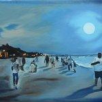 Daniel Lewis, Playa del carmen, oil on canvas