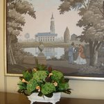 picture and real! flowers in lobby