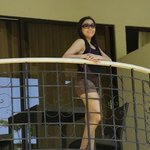 At the balcony of our room Cebu Pacific Resort