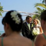 Wedding march 2013 when all of the sunbathers on the beach went quiet to observe the beautiful w
