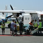 The small charter planes (emphasis on small)