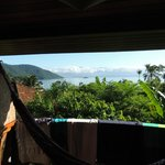 View over the bay from my room. The banana trees greew almost into the balcony