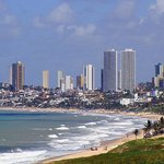 Ponta Negra Beach And Skyline Of Natal City