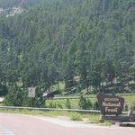 entering Big Horn Mountains