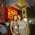 Con mi amiga Marcelita