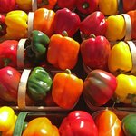 Fresh Bell Peppers on Display